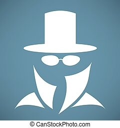 Man in the hat icon