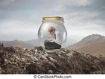 man in the jar