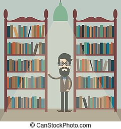 man in the library