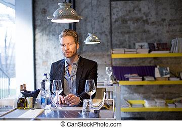 Man in the restaurant