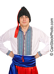 man in the Ukrainian national costume