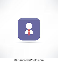man in tie icon