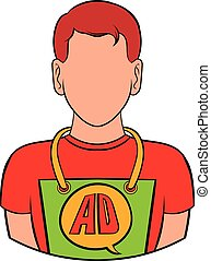 Man in uniform icon cartoon