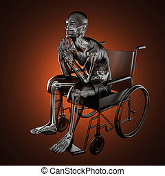 Man in wheelchair