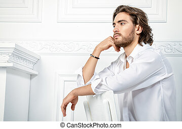 man in white clothes