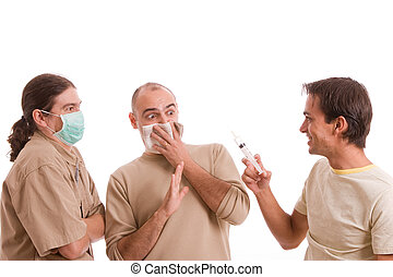Man infected with h1n1