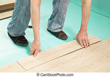 man, installering vloerend