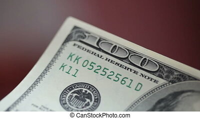 Man is counting his money close-up