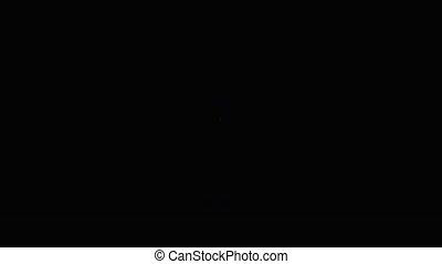 Man is posing in a flashing light