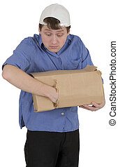 Man is thieved put into hand in box