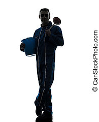 man janitor plumber silhouette
