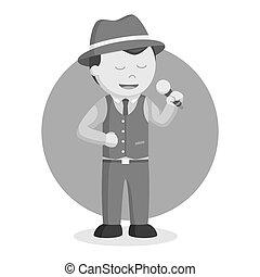 Man jazz singer illustration design
