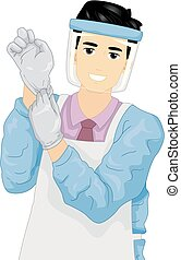 Man Job Embalmer Illustration