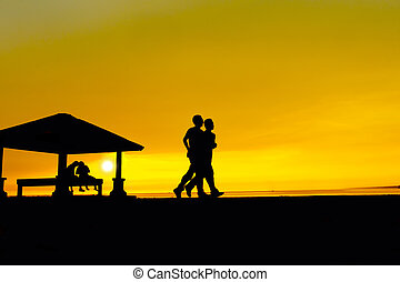 man jogging silhouette