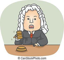 Man Judge - Illustration of a Judge