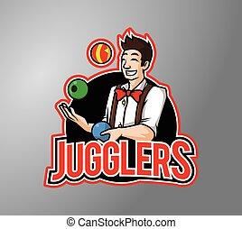 man juggling ball vector i