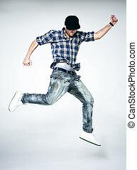 man jumping - Young man jumping in air