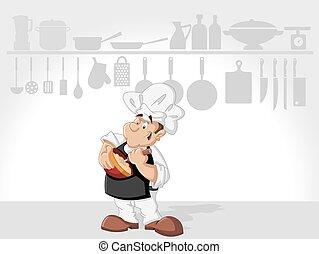 man, kok, het koken
