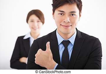 man, kolleger, lycklig, affär, stilig