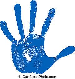 Man left hand print