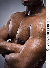 man, lichaam, black , sterke, sexy