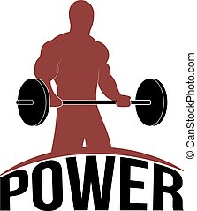 Man Lifting Barbell Vector - Man Lifting barbell, Fitness...