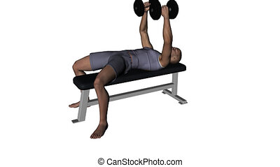 Man lifting weights seamless video