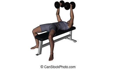 Man lifting weights video loop