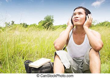 Man Listening To Music Series