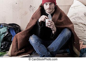 Man living on the street