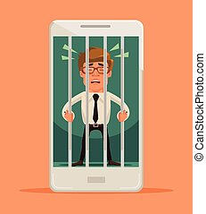 Man locked in smartphone