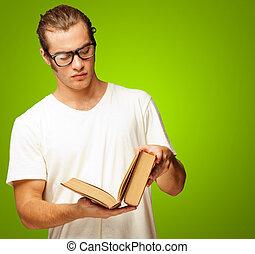Man Looking At Book