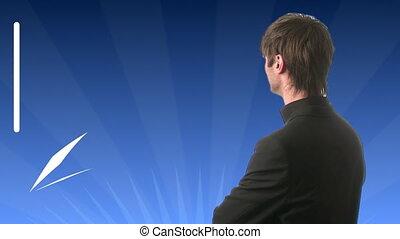 Man Looking at Graph