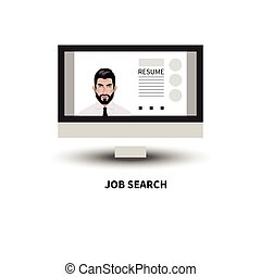 Man looking for job