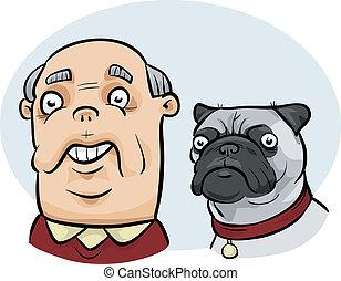Man Looks Like Dog - A cartoon man who looks similar to his...