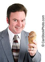 Man Loves Chocolate Ice Cream