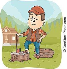 Man Lumberjack