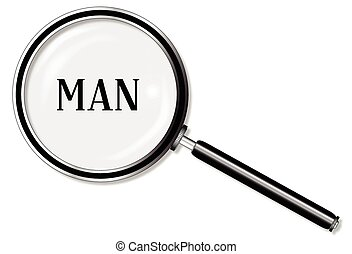 Man Magnifying Glass