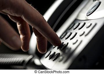 Man making a telepnone call