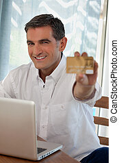 Man Making Online Purchases