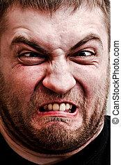 Man making stupid face