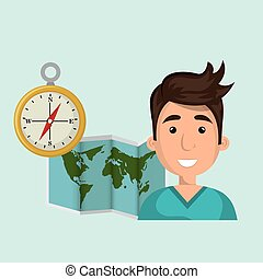 man map world global travel