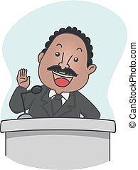 Man Martin Luther King Speech Illustration