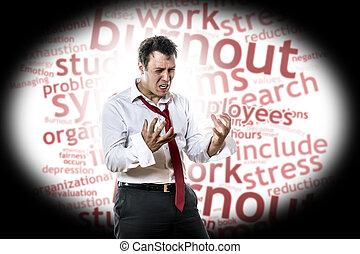 man, med, burnout, syndrom