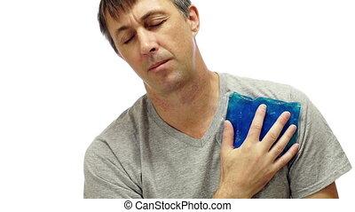 Man Medical Cold Pack Shoulder Pain