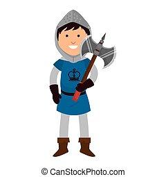man medieval warrior cartoon