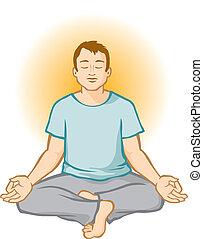 Man Meditating (Aura)