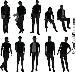 Man Men Male Fashion Shopping Model - A set of men models...