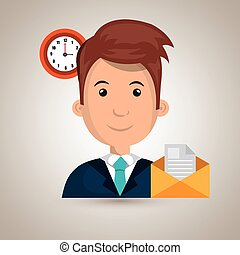 man message document icon