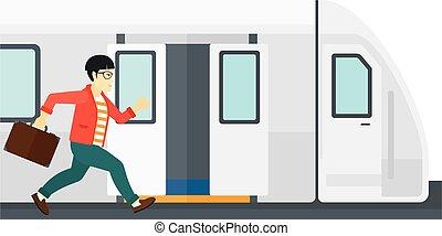 man, missende , train.